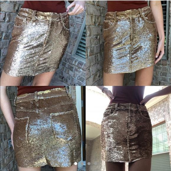 Bronze mini skirts size 29 Iro Skirts Iro Paris All Sequence Skirt Poshmark
